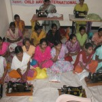 Young women receiving a free tailoring course at the MVP Women's Program in Ghaziabad