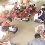 Studying hard in Kaliyampoondi