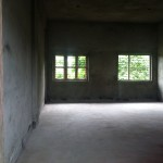 One of the nearly finished rooms in the girls dormitory.