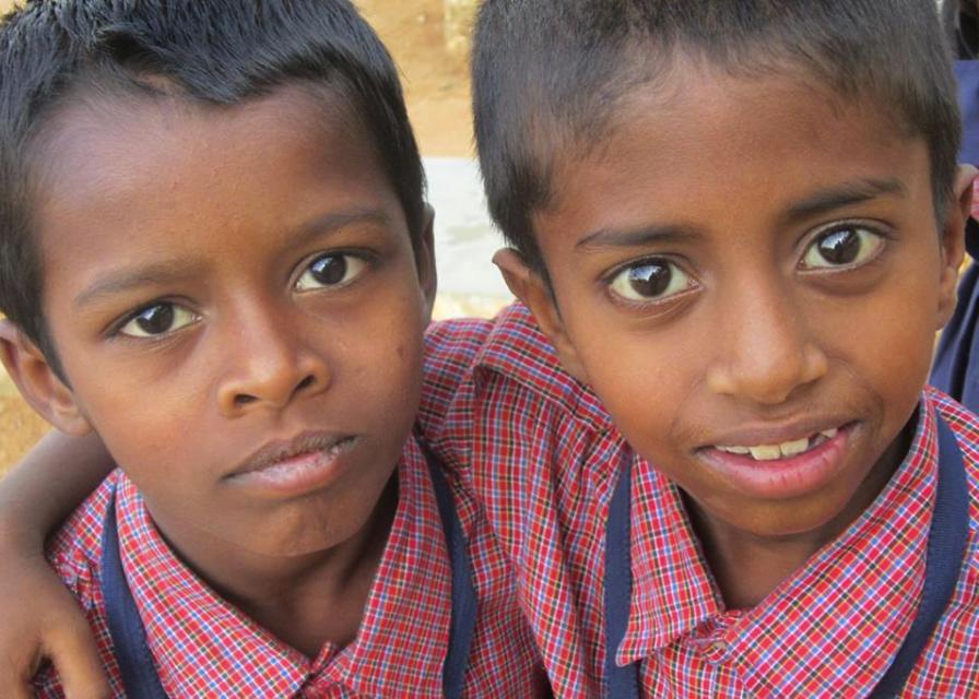 Sandip and Varun - best buddies in their school uniforms.