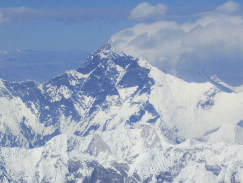 Mount Everest – got a little nervous about the plane flipping with the rush of people to look out the right side when the pilot announced our passage. It is impressive, but then again, there's only one Wheelock Mountain.