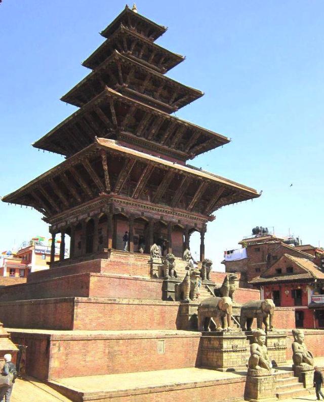 In Bhaktapur, outside Kathmandu.