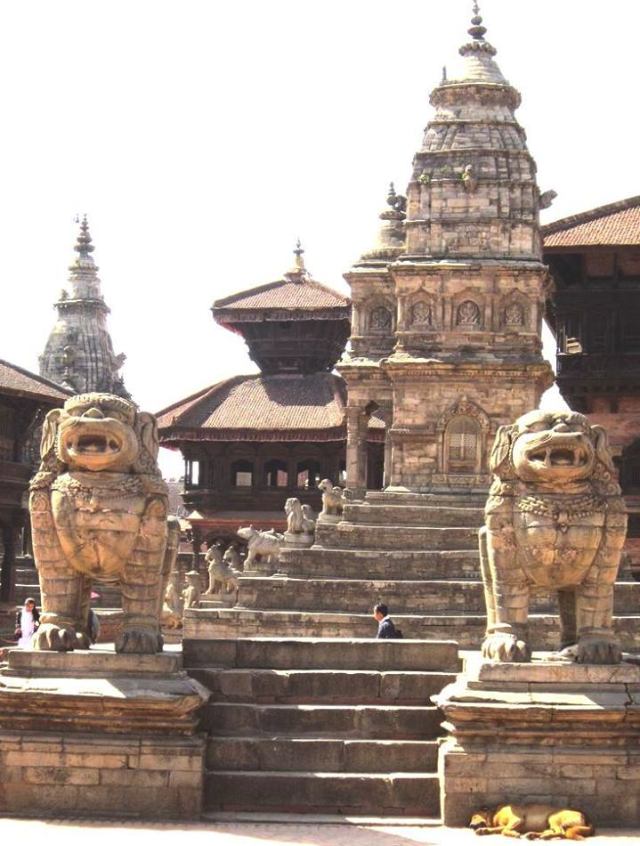 Among the temples and places of Bhaktapur.