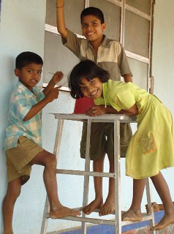 Children at Savarsai